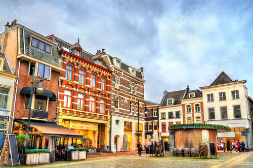 Poster Con. Antique Traditional houses in Arnhem, Netherlands