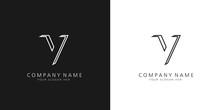 V Logo Letter Design
