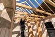 Hausbau - Rohbau mit Dachstuhl