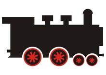 Steam Locomotive, Simple Vector Illustration, Single Object