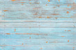 canvas print picture - Vintage beach wood background - Old weathered wooden plank painted in turquoise or blue sea color.