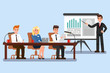 Business Conference Color Vector Illustration
