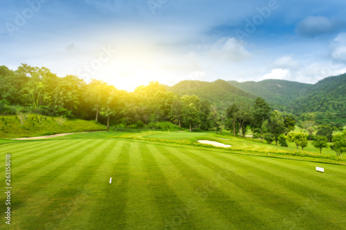 Fotografia, Obraz  Golf Course at Sunset