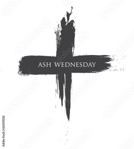 Fotografiet The Black cross of ash wednesday