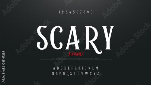 Photo  Scary movie alphabet font