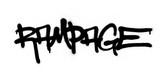 Fototapeta Młodzieżowe - graffiti rampage word sprayed in black over white
