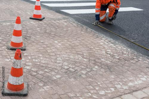 Photo entretien et signalisation des routes
