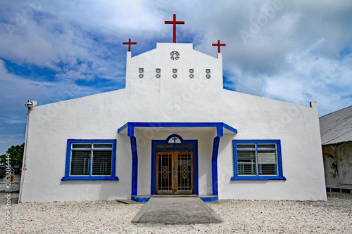 church in laura, marshall islands Canvas Print