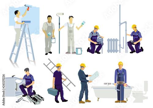 Obraz na plátně neun Handwerker