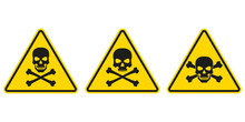 Hazard Or Warning Sign Set Wit...
