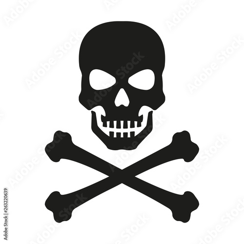 Photo  Skull with crossed bones icon