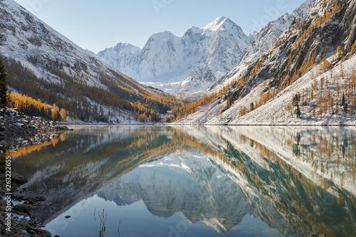 Crédence de cuisine en verre imprimé Rivière de la forêt Altai mountains, Russia, Siberia.