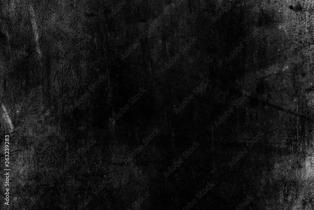 Fototapety, obrazy: White Grunge on Black Background for Overlay.