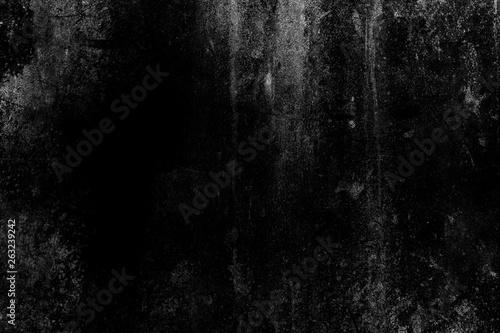 White Grunge on Black Background for Overlay. Fototapet