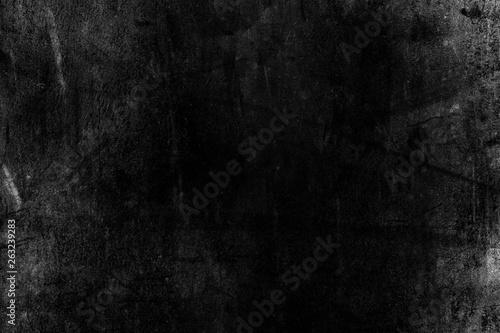 Fotografie, Obraz  White Grunge on Black Background for Overlay.