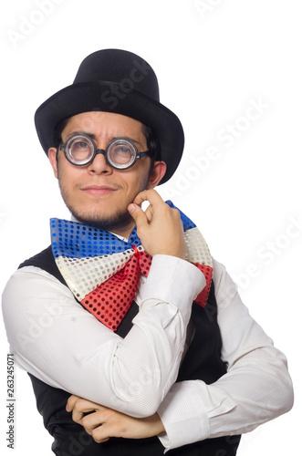 Fotografie, Obraz Funny man with giant bow tie