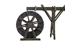 A Freewheeled Waterwheel With A Lot Of Motion Blur
