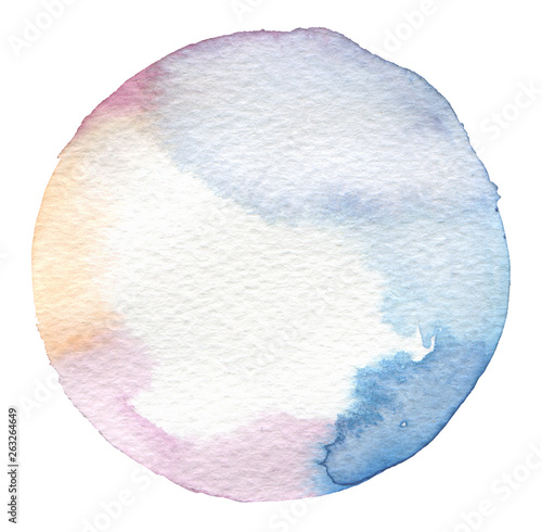 Watercolor Circle paint on white background.