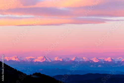 Photo Alpenglow on the Sangre de Cristo
