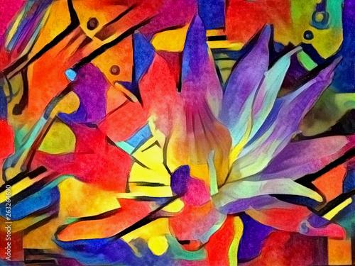Foto op Plexiglas Paradijsvogel Lotus flower