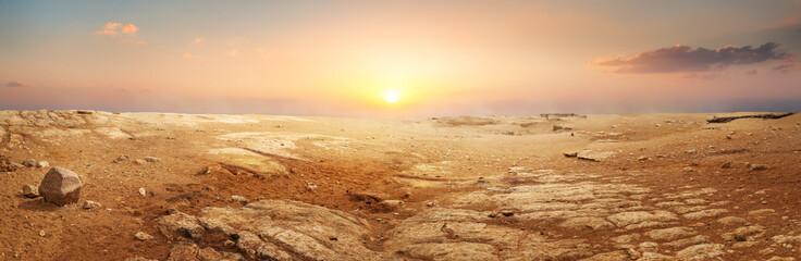 Piaszczysta pustynia w Egipcie