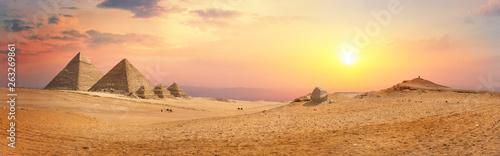Foto auf Gartenposter Landschaft Panorama of pyramids