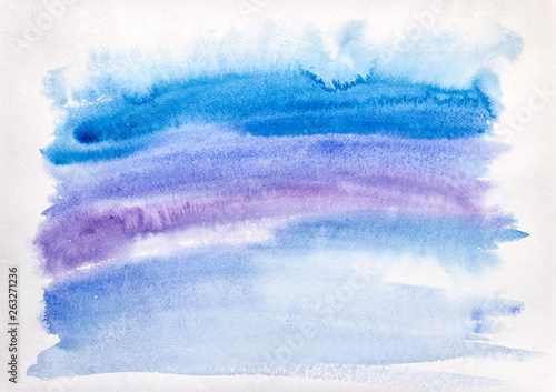 Recess Fitting Fantasy Landscape hand painted multicolored watercolor background with brush strokes