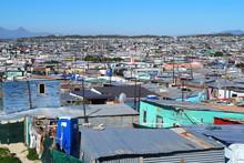 Khayelitsha Township, South Africa - 29 August 2018 : BAckyard In A Township In South Africa