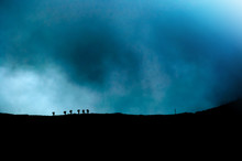 Group Of Hikers On A Moutain R...