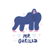 Gorilla Hand Drawn Poster In S...