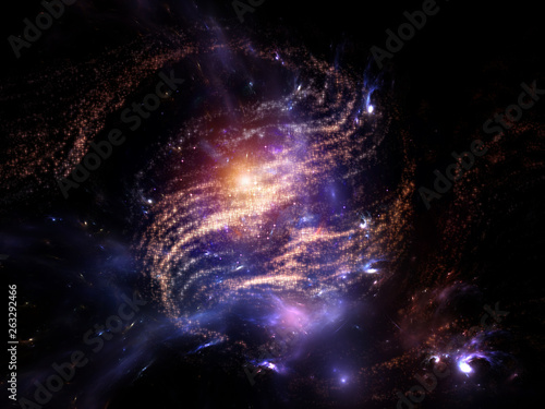 Photo Swirl of Fractal Galaxy