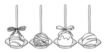 Sweet Cake Pops On Stick With ...