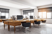 Contemporary Concrete Coworking Office Interior