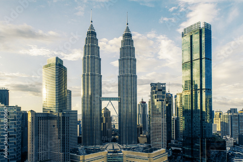 Creative Kuala Lumpur city background Wallpaper Mural