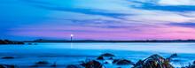 Seascape Lighthouse Coastal Shoreline Images Of Cape Island, Nova Scotia Canada.