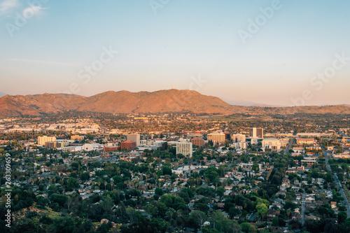 View of downtown Riverside, from Mount Rubidoux in Riverside, California Wallpaper Mural
