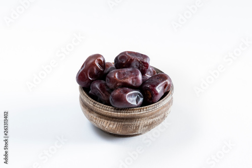 Date Fruit on White Background
