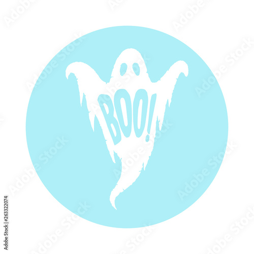 Obraz na plátne Halloween Boo Ghost Vector Cartoon Graphic
