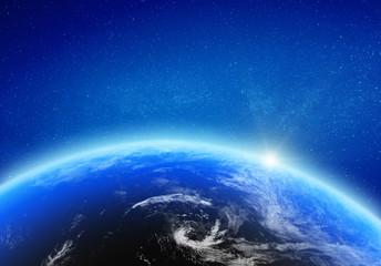 Planet Earth glow light horizon