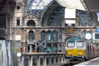canvas print picture - inside central station antwerp belgium