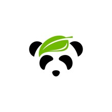 Leaf Panda Logo Vector Design