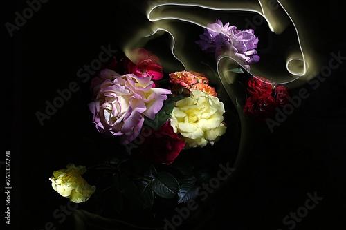 magiczny-wielokolorowy-bukiet-roz