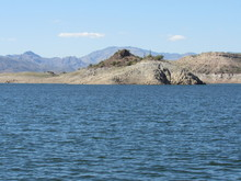 A Lake With Low Water Levels Near Phoenix, Arizona On A Sunny Day