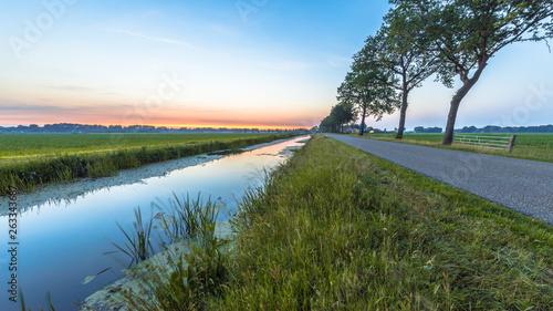 Fotomural Netherlands open polder landscape