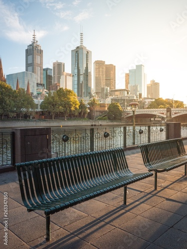 Astounding Wrought Iron Outdoor Bench Seat On Riverbank Of Yarra River Gmtry Best Dining Table And Chair Ideas Images Gmtryco