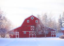 Red Prairie Barn