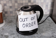 Out Of Order Text Stuck On Electrical Kettle