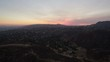 Los Angeles Sunset Aerial 26 Hills and City 4K