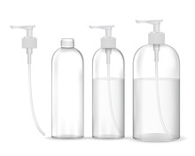 Cosmetic Plastic Bottle With W...