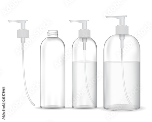 Cuadros en Lienzo Cosmetic plastic bottle with white dispenser pump (transparent)